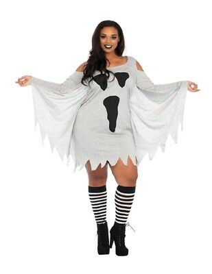 Women's Plus Size Jersey Ghost - Plus Size Womens Ghost Costume