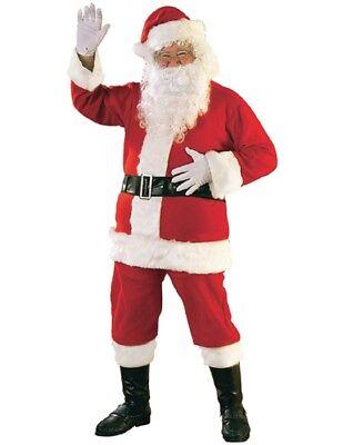 Men's Plus Size Flannel Santa Suit](Plus Size Santa Suit)