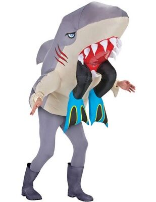 Adult Inflatable Shark Costume - Shark Adult Costume