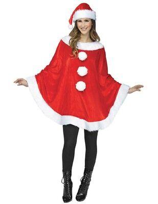 Women's Reindeer or Santa Poncho - Reindeer Costumes For Women