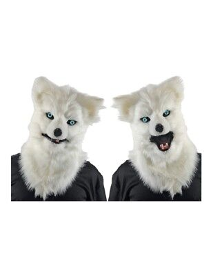 Adult Animated White Wolf - Wolf Halloween Mask