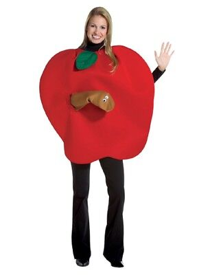 Adult Apple with Worm Costume (Apple Costumes)