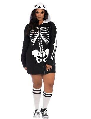 Women's Plus Size Cozy Skeleton Costume - Plus Size Womens Skeleton Costume