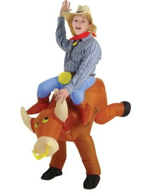 Boy's Inflatable Bull Rider Costume