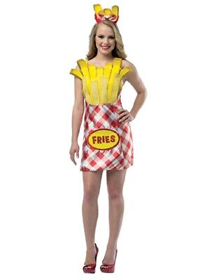 Women's French Fry Foodie Costume](French Fry Costume)