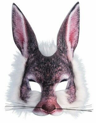 Furry Rabbit Adult Costume Half Mask - Rabbit Half Mask