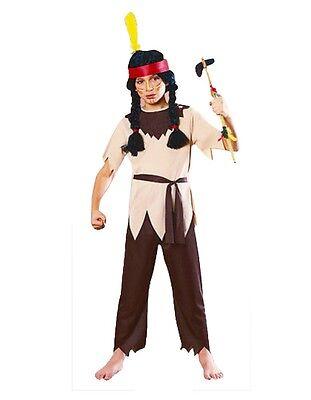 Kinder Indian Pocahontas Kostüm Cowboys Häuptling Verkleidung Kostümparty