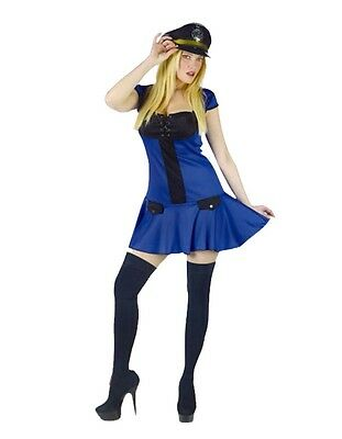 Adult Lady Police Woman Officer Cop FBI Agent Fancy Dress Costume Policewoman