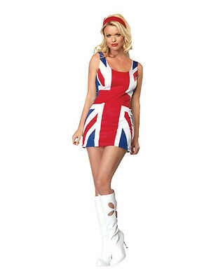 Spice Girl Kostüm (Adult Geri British Flag Dress Sexy Spice Costume Ginger Girls Movie Fancy Dress )