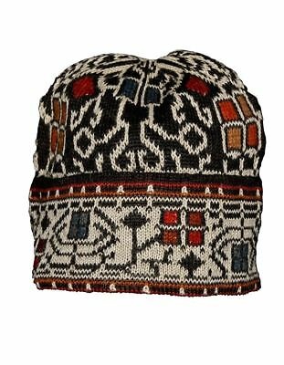 100% Alpaca Hand Knit Winter Beanie Hat - Congo -