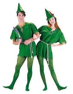 Adult Peter Pan Costume Hook Fairytale Pixie Fantasy Elf Fancy Dress