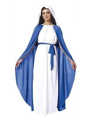 Erwachsene Damen Jungfrau Maria Kostüm Weihnachten Kings Wise - Jungfrau Maria Kostüm