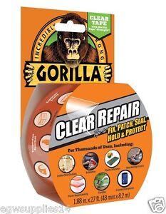 Gorilla Waterproof Tape Clear Repair Fix Plastic Roof-Sheets Greenhouse Glass +