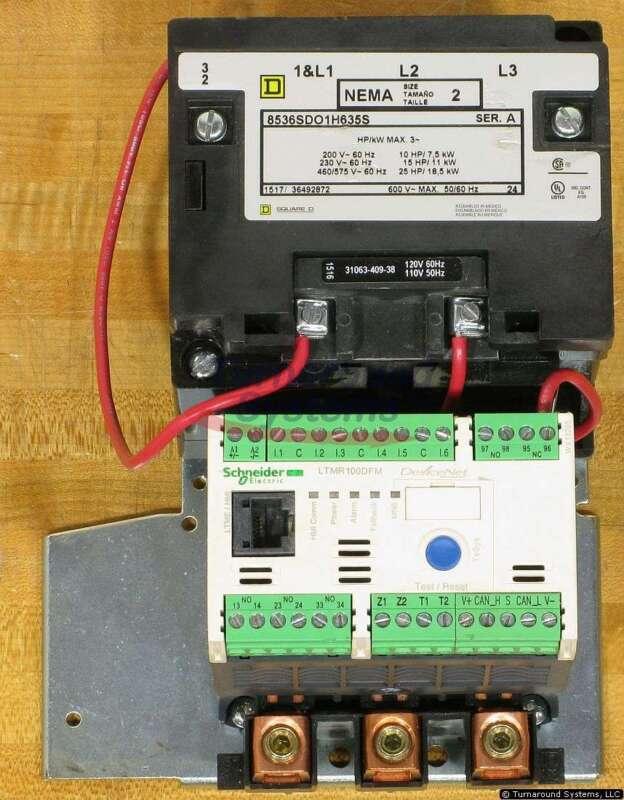 Square D 8536SDO1V02H635S Starter, Size 2, 120 Volt Coil, Tesys, NEW!