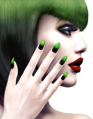 Neon Stiletto Hexen Fingernägel für Damen NEU - Styling Schminke Karneval Faschi