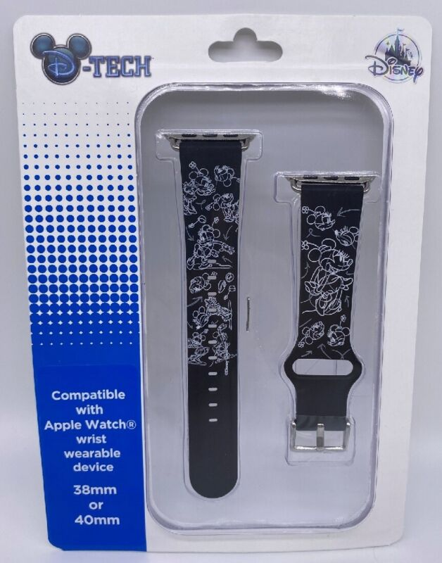 Disney DTech Minnie Mouse Sketch Apple Watch Wrist Bands 38mm or 40mm