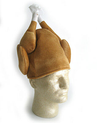 Funny Turkey Hat Chef Thanksgiving Tailgate Party Adult Halloween Costume Hat