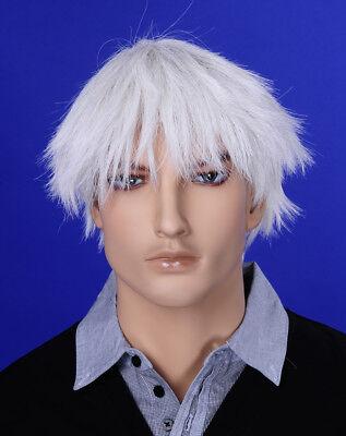 Männer Perücke Wig JM-W03 Mann Mannequin Schaufensterpuppe Haare - Weiße Perücke Männer