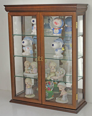 SOLID WOOD Tuscan Style Wall Curio Cabinet, Stand or Wall (Curio Cabinet Stand)