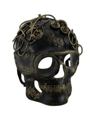 Zeckos Metallic Steampunk Skull w/Monocle Mask