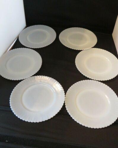 "Set of 6 8"" Luncheon Plates MacBeth Evans Monax Petalware Vintage Wonderful!"