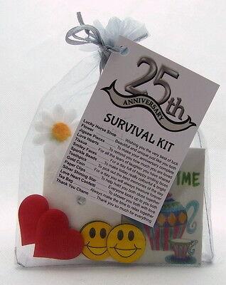 Silver Wedding Anniversary Ideas (25th Silver Wedding Anniversary SURVIVAL KIT Novelty Gift Idea Fun)