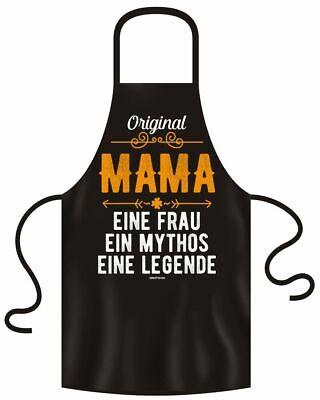 Kochschürze für den Muttertag - Original Mama  - Grillschürze mit Urkunde (Mutter Schürze)