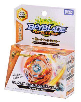 Takara Tomy Beyblade BURST B-75 Booster Blaze Ragnaruk.4C.Fl