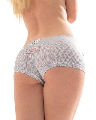 "CROOTA Womens Seamless Underwear, Low Rise Panty, Gray Striped, S (Hip 30-33"")"