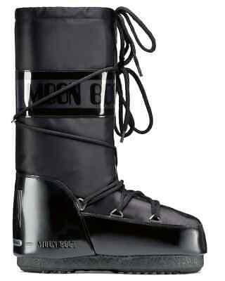 MOON BOOT originali donna GLANCE NERO black satinato 39/41