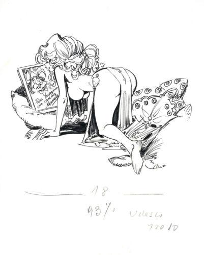 RARE  LORNA - Alfonso AZPIRI original artwork