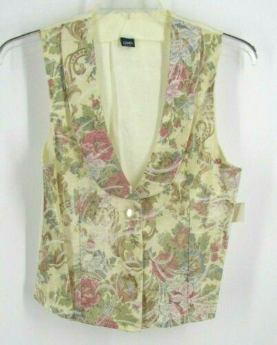 Vtg Honey Collection Vest Sz Medium Floral Print NWT