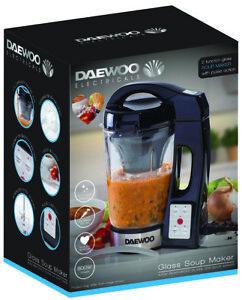 Daewoo Black 800W 1.7L Glass Jug Electric Blender Machine Smoothie & Soup Maker