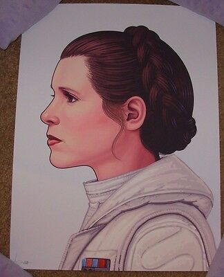Star Wars Art Print Poster Princess Leia Carrie Fisher Mondo Mike Mitchell