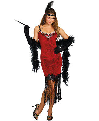 1920's Ruby Red Beaded Flapper Costume - Dreamgirl 11164 (Beaded Flapper Costume)