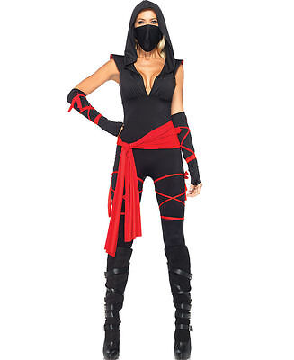 Ninja Costume For Adults (Deadly Ninja Costume for Women size Medium New by Leg Avenue)