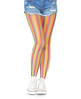New Leg Avenue 9305 Rainbow Striped Fishnet Tights