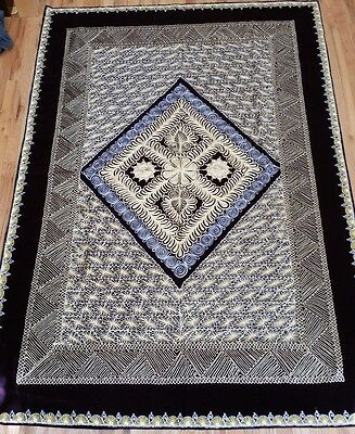 Silver Golden Geometrical Embroidered Cover (suzani)Size: 87/60in