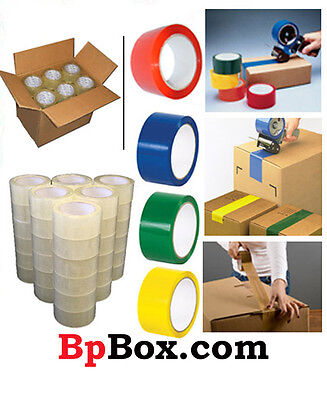 Color Carton Sealingpackaging Tape Rolls 2 X 110 Yard - Light Weight -