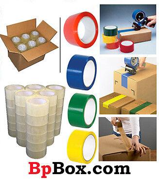 Color Carton Sealingpackaging Tape Rolls 2 X 110 Yard - Light Weight -