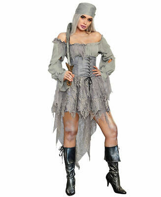 Dreamgirl Women's Pirate Ghost Costume 11146 - Ghost Pirate Costumes