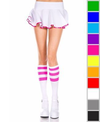 New Music Legs 5726 Knee High Socks With Striped Top