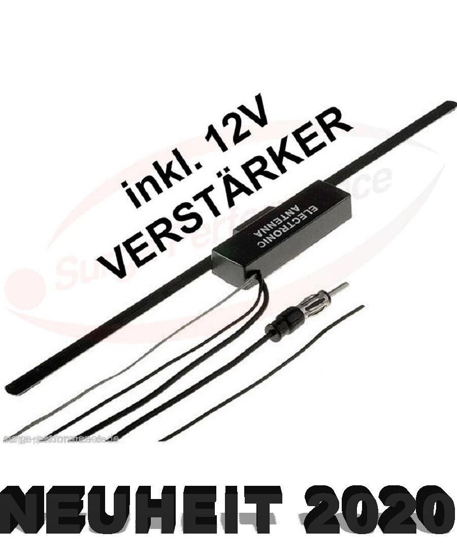 Universal KFZ Scheibenantenne Antenne mit Verstärker für AUTO PKW
