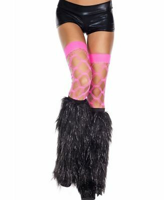 Furry Lurex Leg Warmers - Music Legs 5536