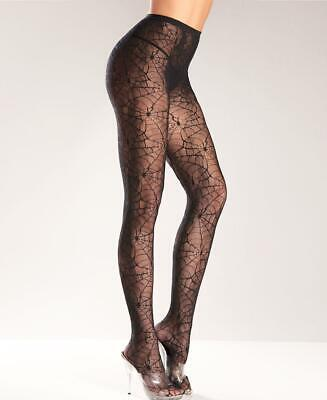 New Be Wicked BW515Q Plus Size Spider Web Pantyhose Queen Size](Spider Web Pantyhose)