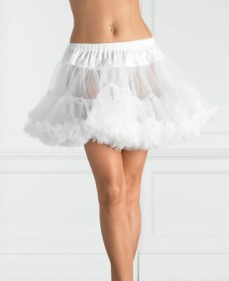 SEXY COSTUMES WHITE Petticoat Layered Tulle Womens Tutu Adult PLUS