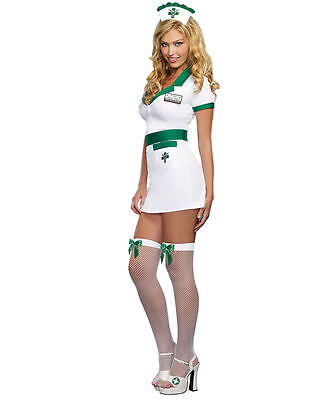 Nurse Anita Reefer Costume for Adults size Large New by Dreamgirl - Nurse Costumes For Adults