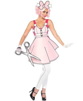 Brand New Leg Avenue Beautiful Pretty Paper Doll Halloween Costume SZ - Paper Doll Costumes Halloween