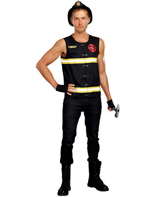 New Dreamgirl 10704 Fire Away Firefighter Mens Costume - Firefighter Costumes For Men