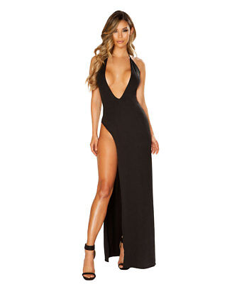 New Roma Costume 3647 Maxi Dress With Deep V Cut - Costumes With Dresses